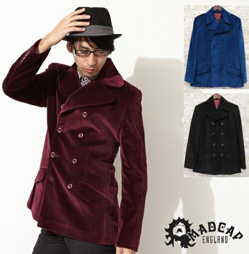 40%OFF SALE セール Madcap England マッドキャップ ベルベットコート ピーコート Coat コート ブリード ブレザー レトロ 3色 メンズ モッズファッション プレゼント ギフト