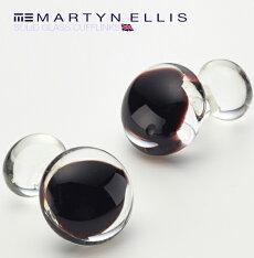 MartynEllisカフスボタンカフスカフリンクス男性用マーティンエリスガラス英国カフスボタンブラックカフスカフリンクスカフスボタン