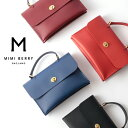 MIMI BERRY ミミベリー 【正規品】 本革レザー ショルダー バッグ HEBE 2021 SS フラップ形状変更の新作 英国製 MADE IN ENGLAND BLACK…