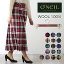 O'NEIL OF DUBLIN ウーステッドウール 100% ロング丈 キルトスカート 83cm オニール オブ ダブリン キルト ラップスカート アイルラン…