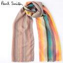 セール SALE PAUL SMITH メンズ スカーフ シルク マフラー ポールスミス ストライプ アーティスト クラッシュ マルチ …