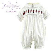 レイチェルライリーキッズ子供服肌着ベビースーツ兵隊刺繍コットンロンパースRachelRileyアイボリー英国王室Soldierギフト誕生日赤ちゃん