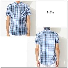 RELCOレルコチェック半袖シャツメンズギフトモッズシャツモッズファッション
