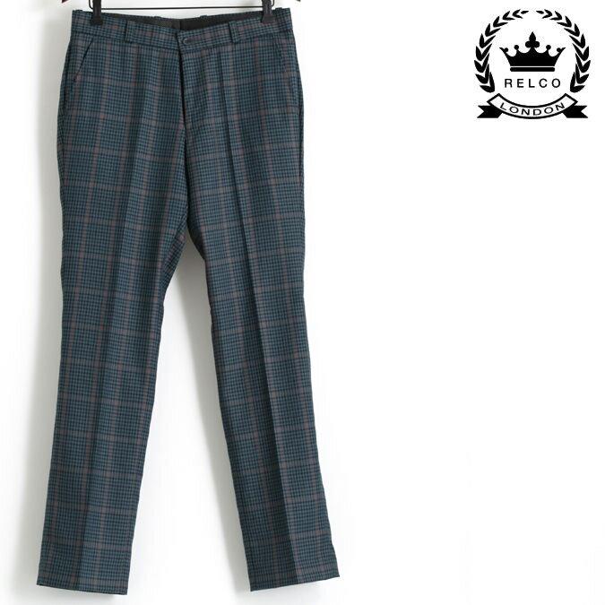 RELCO レルコ ツイード チェック スラックス トラウザー パンツ ズボン メンズ モッズ プレゼント ギフト