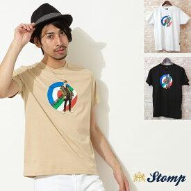 ストンプ Stomp Tシャツ ブリティッシュ モッズ イタリアン スーツ 3色 メンズ ギフト トラッド