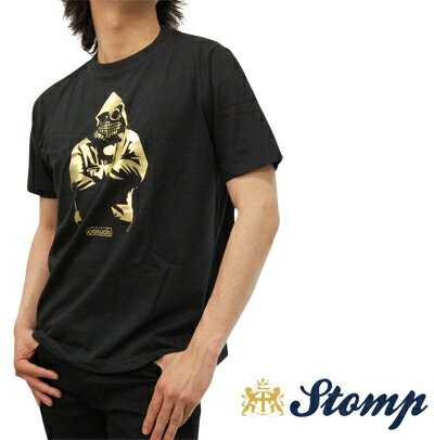 セール ストンプ Stomp Tシャツ T シャツ Goggle Man ブラック Black ゴールド コットン UK モッズ scc009black *m *l プレゼント ギフト