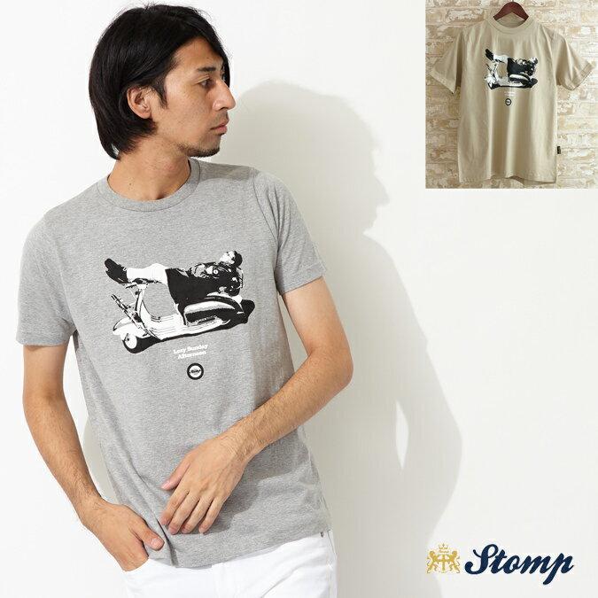 セール ストンプ Stomp Tシャツ New Lazy Sunday モッズスクーター 2色 メンズ モッズファッション プレゼント ギフト 父の日