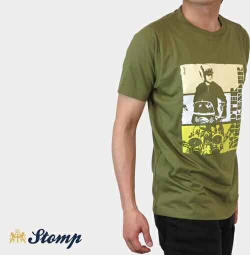 セール ストンプ Stomp Tシャツ New Scooter Weekender メンズ 【送料無料】 T-Shirt T シャツ スクーター オリーブ Olive コットン UK モッズ scm031bolive *l プレゼント ギフト 父の日