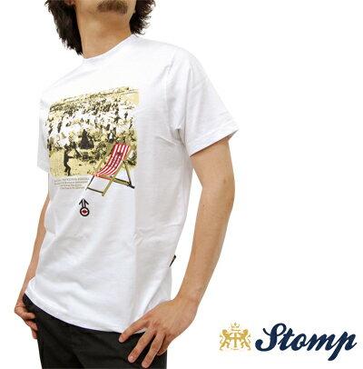 セール ストンプ Stomp Tシャツ T シャツ デッキチェア Deckchair ホワイト White コットン UK モッズ scm038white *s *m プレゼント ギフト