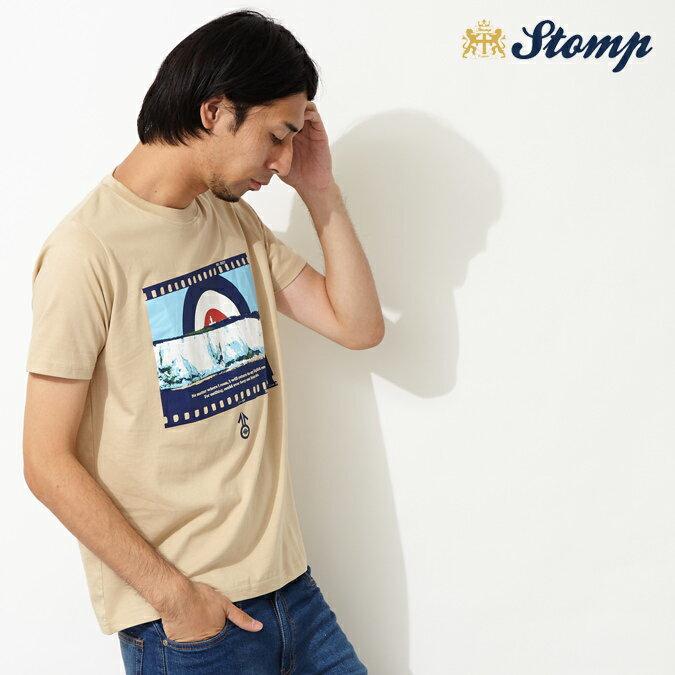 OFFセール ストンプ Stomp Tシャツ English Rose ターゲットマーク ベージュ メンズ モッズファッション プレゼント ギフト