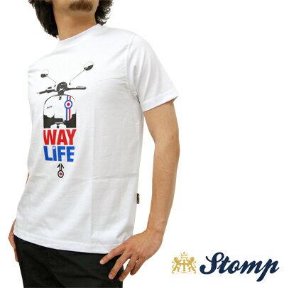 OFFセール ストンプ Stomp Tシャツ T シャツ Way Of Life ホワイト White モッズスクーター ターゲットマーク コットン UK モッズ scm040white *s プレゼント ギフト