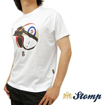 OFFセール ストンプ Stomp Tシャツ T シャツ Helmet & Gogle ホワイト White ターゲットマーク ゴーグル ヘルメット ロゴ コットン UK モッズ scm047white *s プレゼント ギフト
