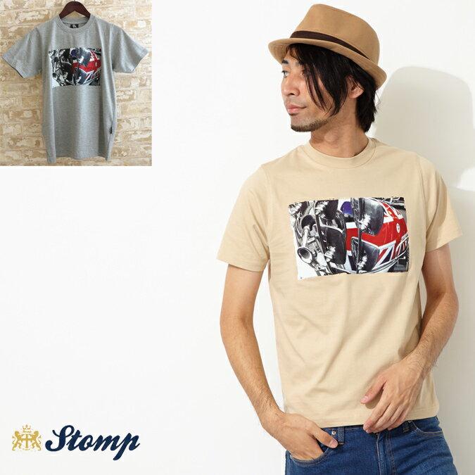 セール ストンプ Stomp Tシャツ T シャツ Union Mirrors モッズスクーター ユニオンジャック 2色 メンズ モッズファッション プレゼント ギフト 父の日