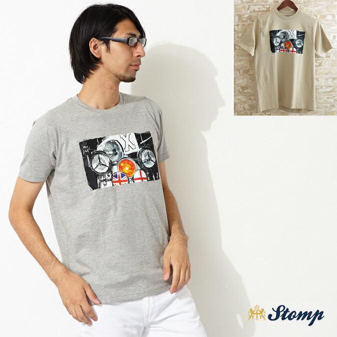 セール ストンプ Stomp Tシャツ T シャツ Lamps モッズスクーター ユニオンジャック 2色 メンズ モッズファッション プレゼント ギフト 父の日