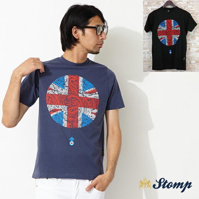 ストンプ Stomp Tシャツ ペイズリー ユニオンジャック 2色 メンズ モッズファッション プレゼント ギフト