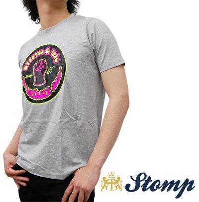 セール ストンプ Stomp Tシャツ T シャツ Grooves & Talc グレー マール Grey Marl ピンク イエロー ロゴ コットン UK モッズ scn007greymarl *s *m プレゼント ギフト