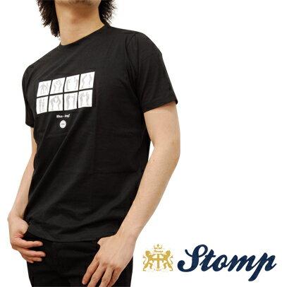 セール ストンプ Stomp Tシャツ T シャツ Ska'ing ブラック Black ロゴ コットン UK モッズ scsk02black *s *m プレゼント ギフト