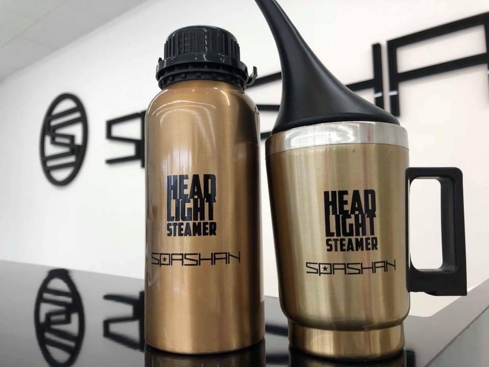 先行予約販売第2弾 スパシャン ヘッドライトスチーマー 2  高耐久で施工も簡単 SPASHAN 洗車 カーケア コーティング剤 スパシャン2018 アイアンバスター