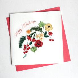 Quilling Card(クイリングカード) クリスマスカード Holiday Blooms  ホリデーブルーム