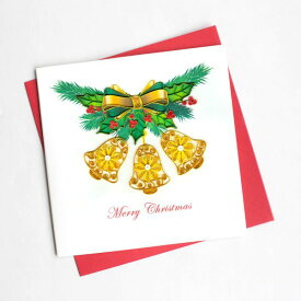 Quilling Card(クイリングカード) クリスマスカード Three Bells Christmas クリスマスベル