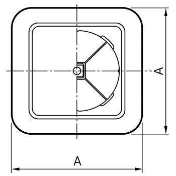[313-281]ユニックスワンタッチ風量調整型換気孔KRP-100BW