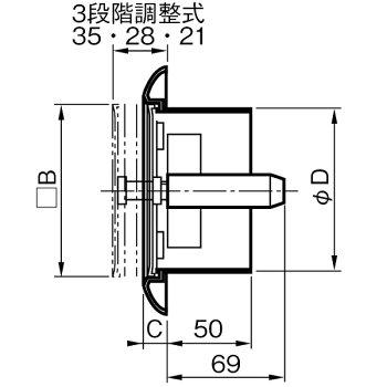 [313-282]ユニックスワンタッチ風量調整型換気孔KRP-150BW