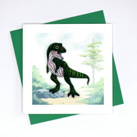 Quilling Card(クイリングカード) グリーティングカード T-Rex Dinosaur ティラノサウルス