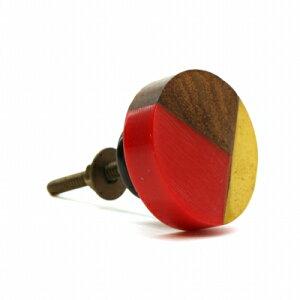 CLOVER(クローバー) つまみ ノブ アクリルウッドノブ レッド取っ手 取手 引き出し アンティーク ノブ 交換 付け替え アクリル 樹脂 赤 木 おしゃれ DIY ハンドル 家具 棚 タンス ドアノブ キャビ