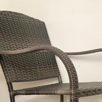 PATIOPETITE(パティオプティ)SAHARAサハラ・スタッキングチェア2椅子屋外用家具ガーデンチェア人口ラタンガーデンチェアーイス椅子いすアウトドアガーデンチェアテラスバルコニーベランダガーデンファニチャーアジアン