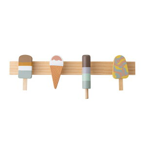 Bloomingville MINI(ブルーミングヴィルミニ) コートラック アイスクリームコートハンガー コートフック 木製 ウォールフック ウォールハンガー 壁掛け ハンガー フック 壁掛けフック コート バ