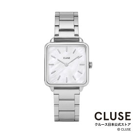 【日本正規品】クルース 時計 / CLUSE 日本総代理店 公式ストア ラ・テトラゴン スリーリンク シルバー / ホワイトパール 正規品 レディース 腕時計ポイント10倍
