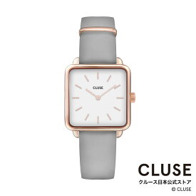 【日本正規品】クルース 時計 / CLUSE 日本総代理店 公式ストア ラ・テトラゴン ローズゴールド ホワイト / グレー 正規品 レディース 腕時計ポイント10倍