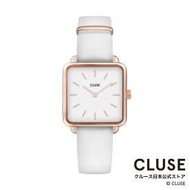 【日本正規品】クルース 時計 / CLUSE 日本総代理店 公式ストア ラ・テトラゴン ローズゴールド ホワイト / ホワイト 正規品 レディース 腕時計ポイント10倍
