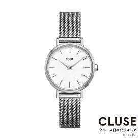 【日本正規品】クルース 時計 / CLUSE 日本総代理店 公式ストア ラ・ボエーム ペティット メッシュ シルバーホワイト/シルバー 正規品 レディース 腕時計ポイント10倍