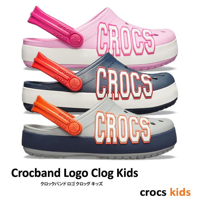 【1,200円Offクーポン付】crocs kids【クロックスキッズ】Crocband Logo Clog Kids / クロックバンド ロゴ クロッグ キッズ ※※ ケイマン サンダル ビーサン