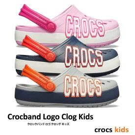 【最大3,000円Offクーポン】▼-30% CROCS【クロックス】Crocband Logo Clog Kids / クロックバンド ロゴ クロッグ キッズ |ケイマン サンダル ビーサン