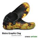 ▲-50%▼ CROCS【クロックス】Bistro Graphic Clog/ ビストロ グラフィック クロッグ/ ブラック   メンズ レディース…