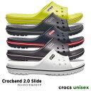 crocs【クロックス】Crocband 2.0 Slide / クロックバンド 2.0 スライド メンズ レディース サンダル スポーツサンダ…