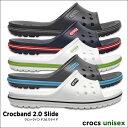 crocs【クロックス】Crocband 2.0 Slide / クロックバンド 2.0 スライド メンズ レディース サンダル スポーツサンダル オフィス ス...