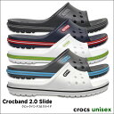 crocs【クロックス】Crocband 2.0 Slide / クロックバンド 2.0 スライド ※※ メンズ レディース サンダル スポーツサンダル オフィ...