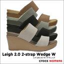 crocs【クロックス】Leigh 2.0 2-strap Wedge W/レイ 2.0 2 ストラップ ウェッジ ウィメンズ レディース サンダル ヒール ※...