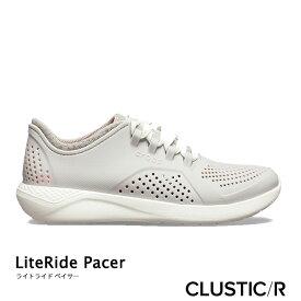 ・クロックス《レディース》 ライトライド ペイサー/パール ホワイト/ CROCS/LiteRide Pacer/Pearl White  
