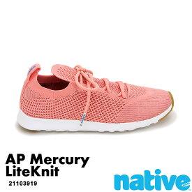 ・ネイティブ《ユニセックス》/ NATIVE/AP Mercury LiteKnit/ エーピー マーキュリー ライトニット/ クレイピンク×シェルホワイト×ジェフィラバー|