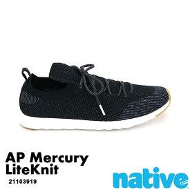 ・ネイティブ《ユニセックス》/ NATIVE/AP Mercury LiteKnit/ エーピー マーキュリー ライトニット/ ジェフィブラック×シェルホワイト×ジェフィラバー|