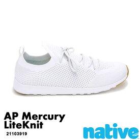 ・ネイティブ《ユニセックス》/ NATIVE/AP Mercury LiteKnit/ エーピー マーキュリー ライトニット/ シェルホワイト×シェルホワイト×ジェフィラバー|