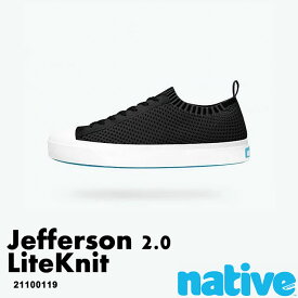 ・ネイティブ《ユニセックス》/ NATIVE/Jefferson 2.0 Liteknit/ ジェファーソン 2.0 ライトニット/ ジェフィブラック×シェルホワイト|