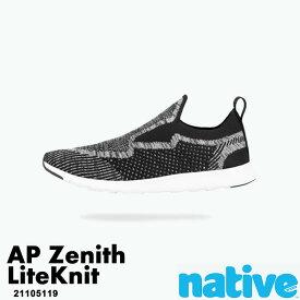 ・ネイティブ《ユニセックス》/ NATIVE/Ap Zenith Liteknit / エーピー ゼニス ライトニット/ ジェフィブラック×シェルホワイト|