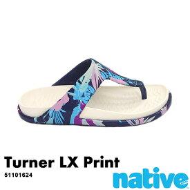 ・ネイティブ《ユニセックス》/ NATIVE/Tuener LX Print/ ターナー ラックス プリント/ レガッタブルー×ブーケットプリント|