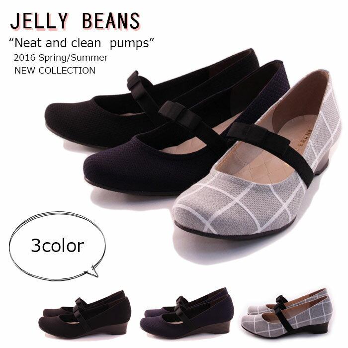 【JELLY BEANS ジェリービーンズ】【パンプス】 ちょこんとリボンがCUTE☆リボンバンドパンプス 痛くない 履きやすい jb8333(jb8335)
