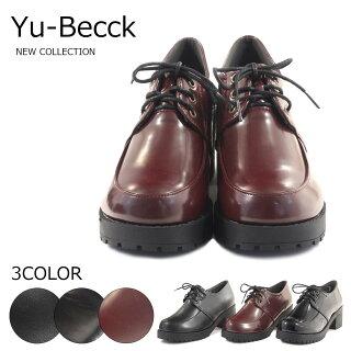 【Yu-Becckユービック】【カジュアルシューズ】オックスフォードシューズタンクソールマニッシュ44-4391